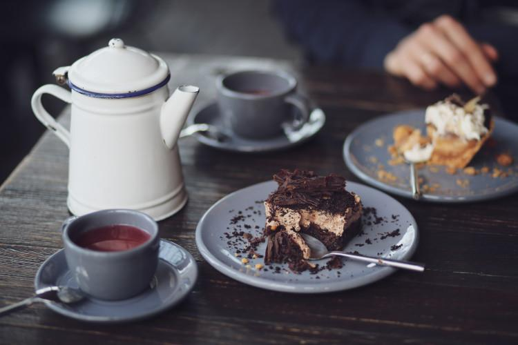 Tearoom tea and cake