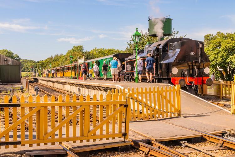 steam train at station