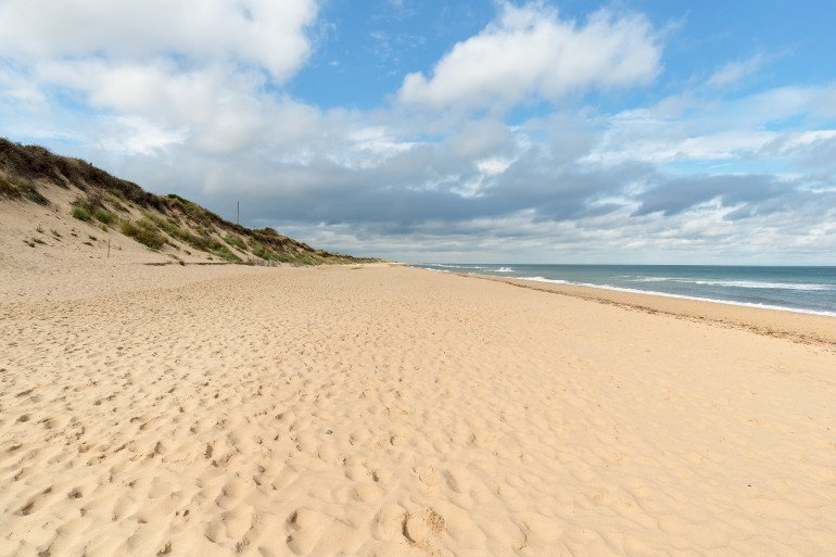 Sandy beach and dunes at Old Hunstanton in Norfolk