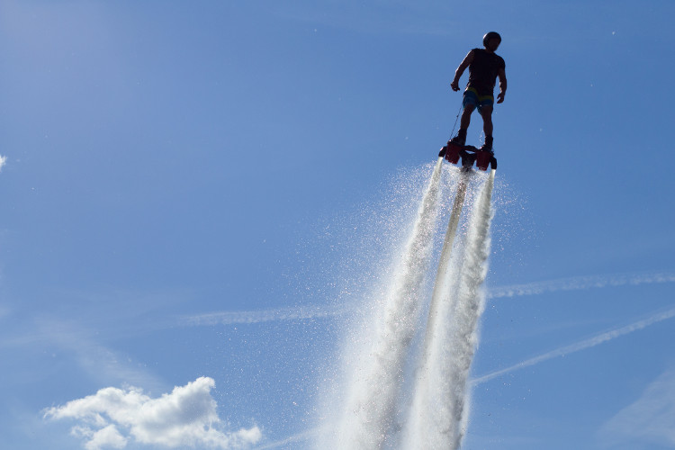 The art of fly-boarding!
