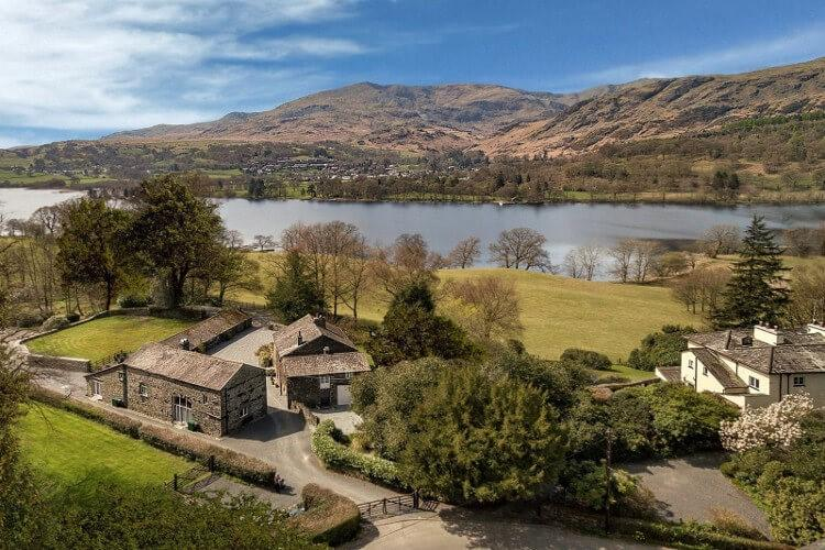 Wetherlam is one of three adjoining holiday cottages on the tip of Coniston Water