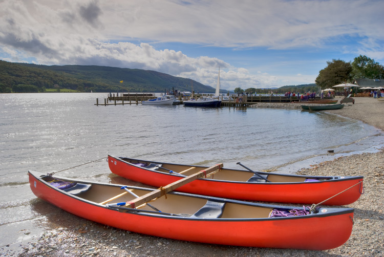 Boats on Coniston Water, Lake District, Cumbria