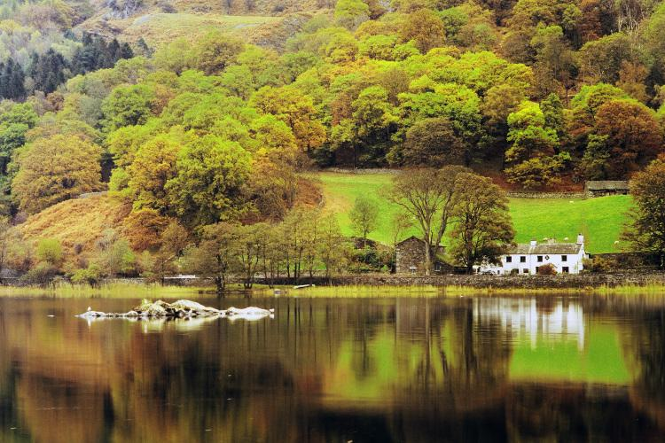 Coniston Water lake in the Lake District, Cumbria