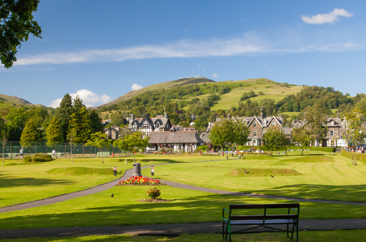 The town of Ambleside in the Lake District, Cumbria