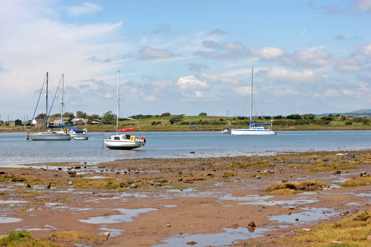 The beach and coastline at Ravenglass, in the Lake District in Cumbria
