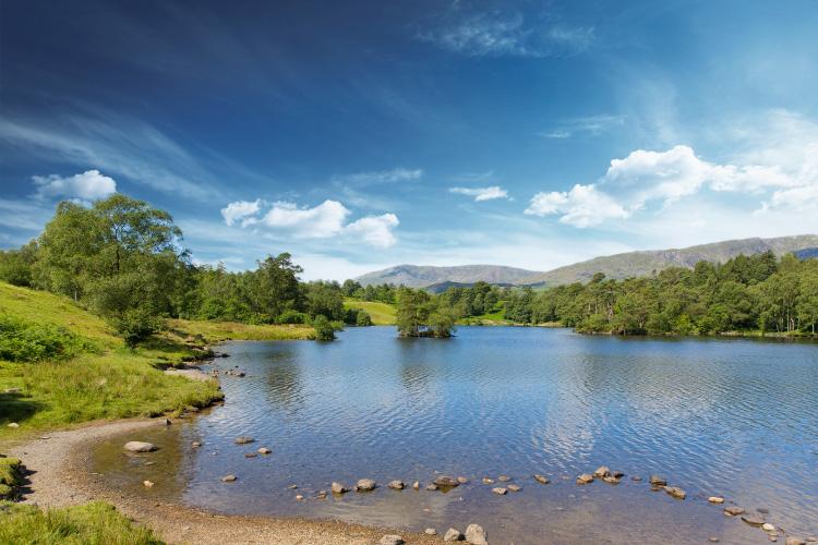 Tarn Hows near Hawkshead, in the Lake District in Cumbria