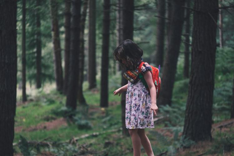 forest bathing with children