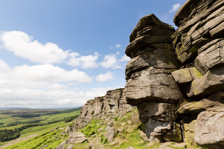 stanage edge in peak district