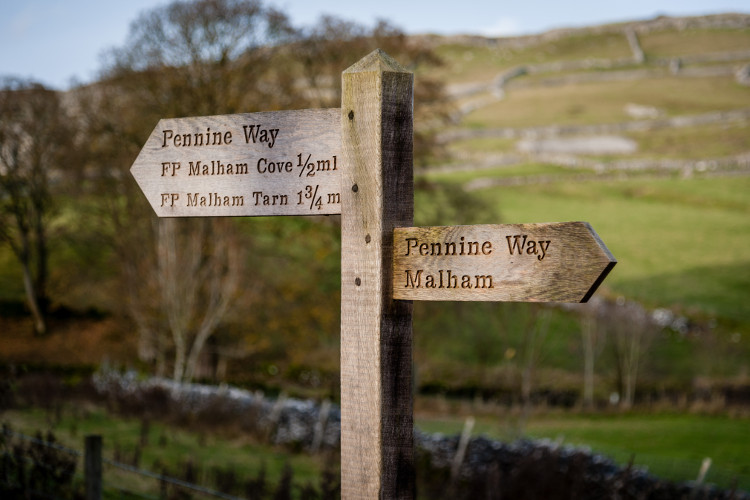 Pennine signpost