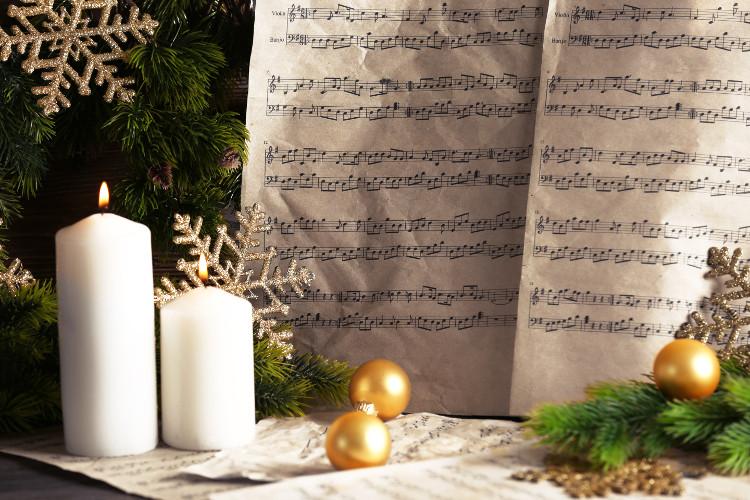 music sheets at Christmas