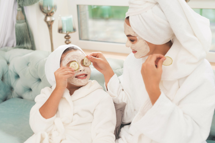 Relax on a family-friendly spa day