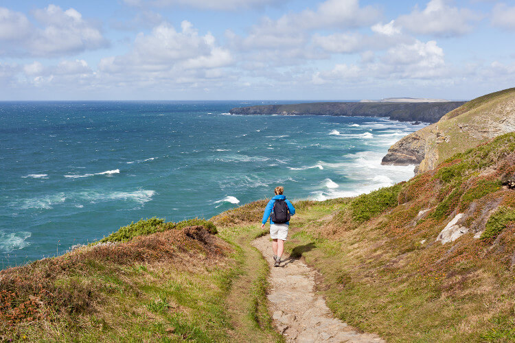 Walking the North Cornwall coast