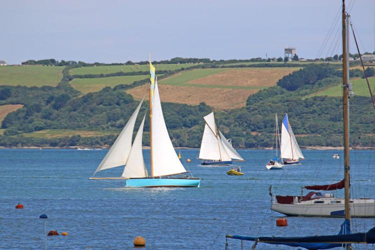 sailing boats on the River Fal