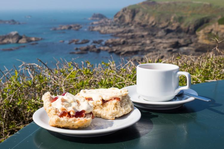 cream tea at lizard point cornwall