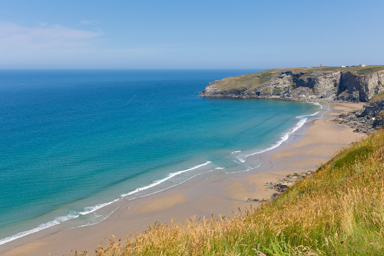 Sandy beaches near Boscastle, North Cornwall