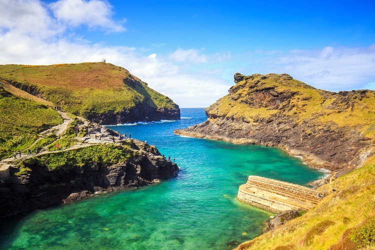 The cliffs of Penally Point and Willapark in Boscastle