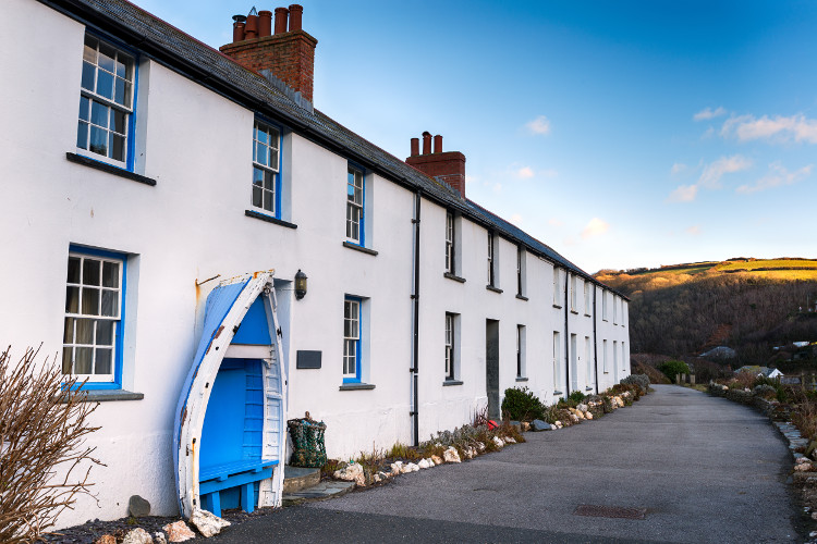 Beautiful cottages in Boscastle, North Cornwall