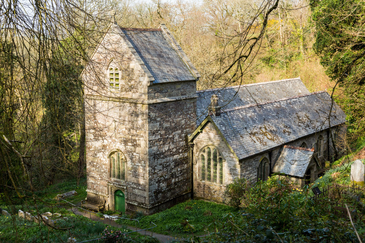 Minster Church in Boscastle, North Cornwall