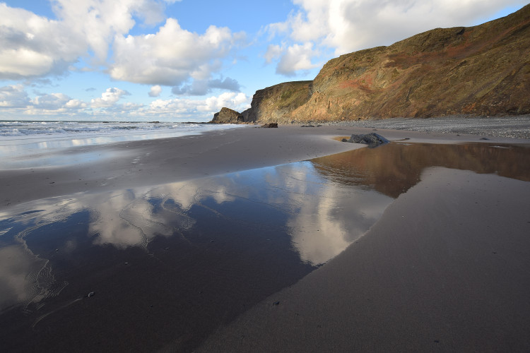 The Strangles beach, North Cornwall