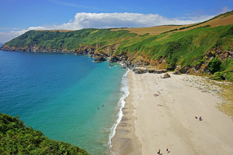 Lantic Bay in South Cornwall