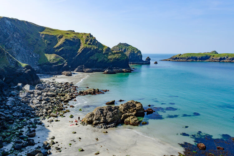 Mullion Cove beach in Cornwall