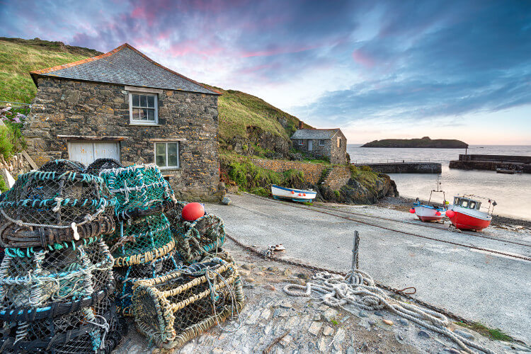 Mullion Cove harbour in Cornwall