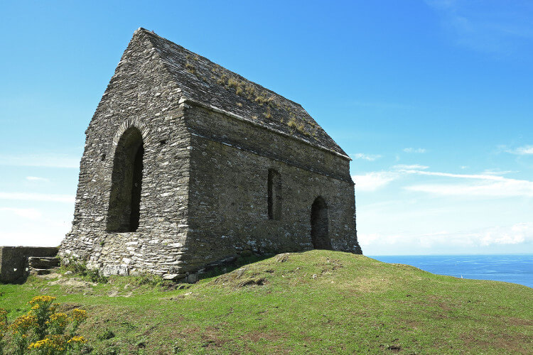Walk to the chapel at Rame Head in Cornwall