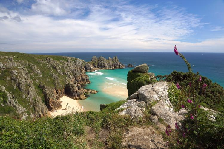 View across Porthcurno Bay
