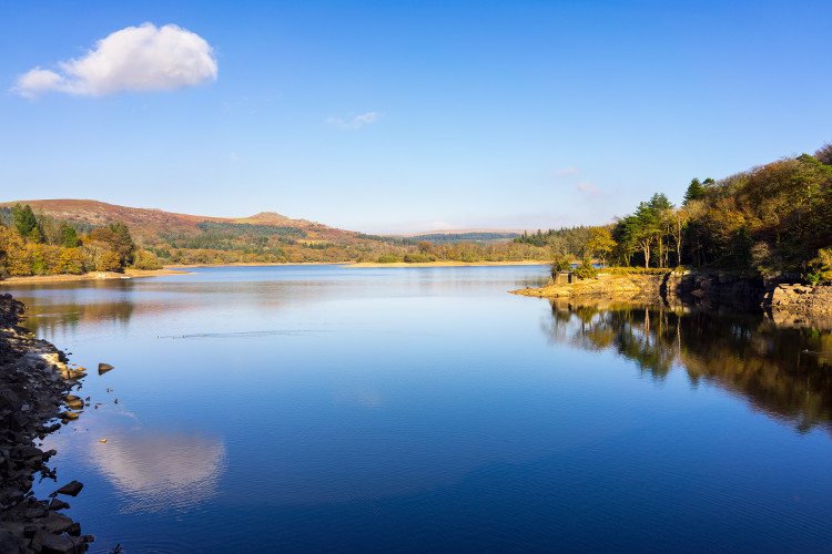 Burrator Reservoir in the Dartmoor National Park