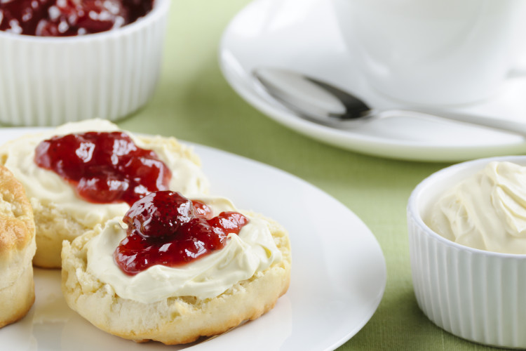 Cream tea in Dartmoor