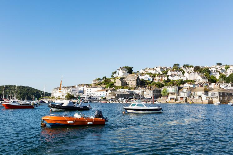 The beautiful harbour town of Salcombe in South Devon