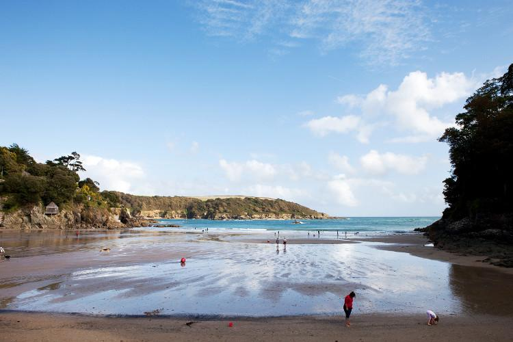Sandy beaches in Salcombe, South Devon