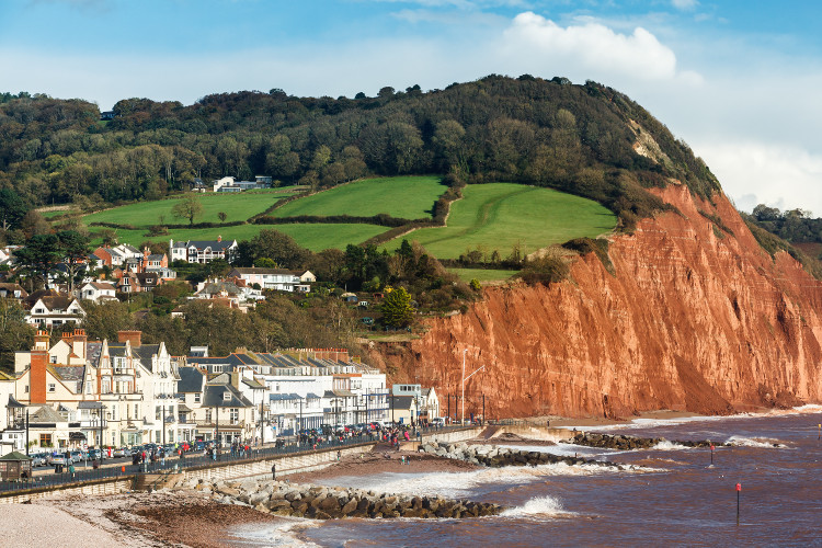 The Regency coastal town of Sidmouth in Devon