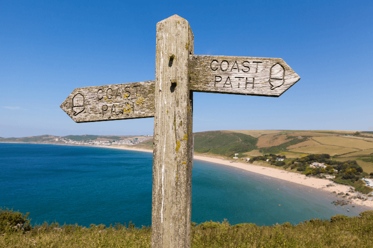 Coast path signs