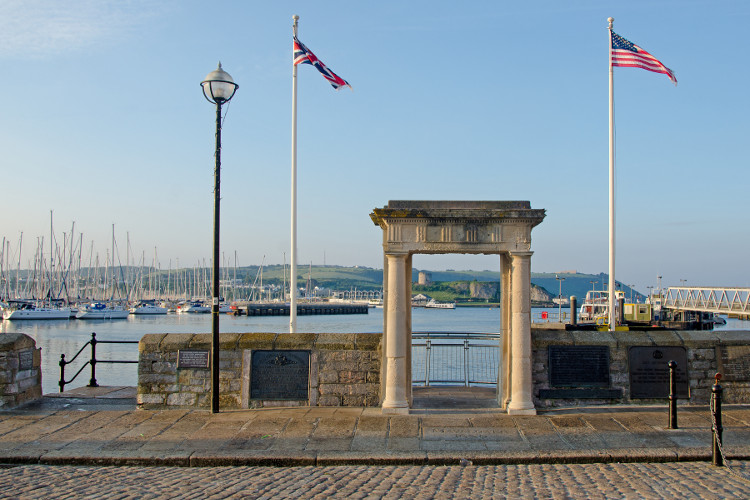 Mayflower steps in Plymouth