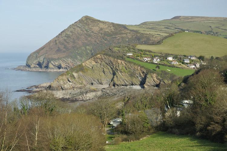 "Hangman Cliff, Devon"" border="