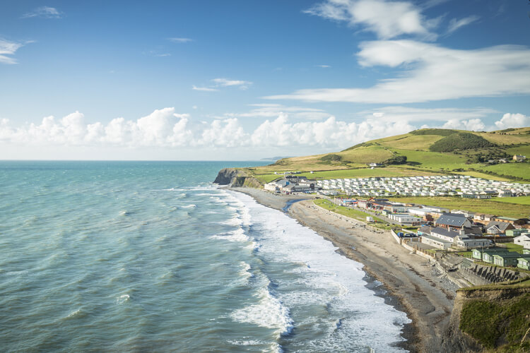 Aberystwth coast in mid wales