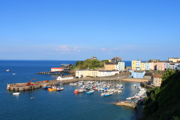 Tenby in west wales