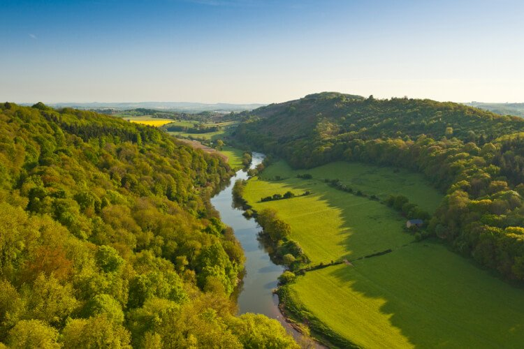 Wye Valley in south wales