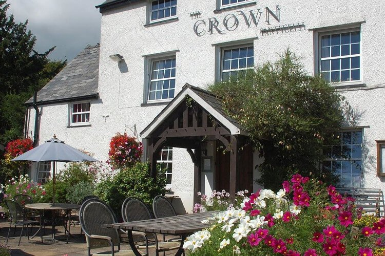 The Crown pub near a cottage