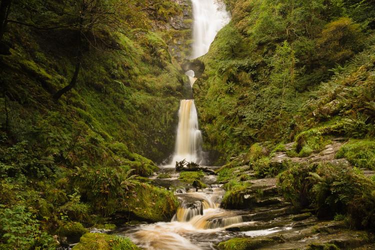 Pistyll Rhaeadr Waterfall, Wales