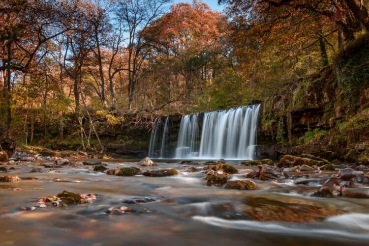 A waterfall in Brecon Beacons, Wales