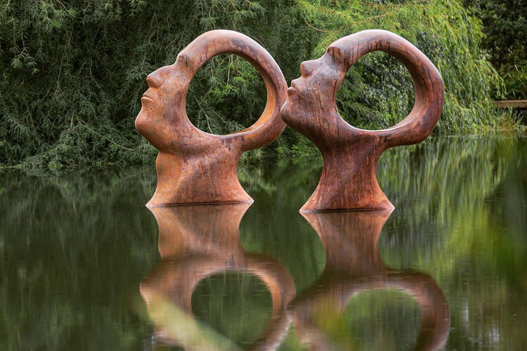 Sculpture garden for group holidays to Dorset