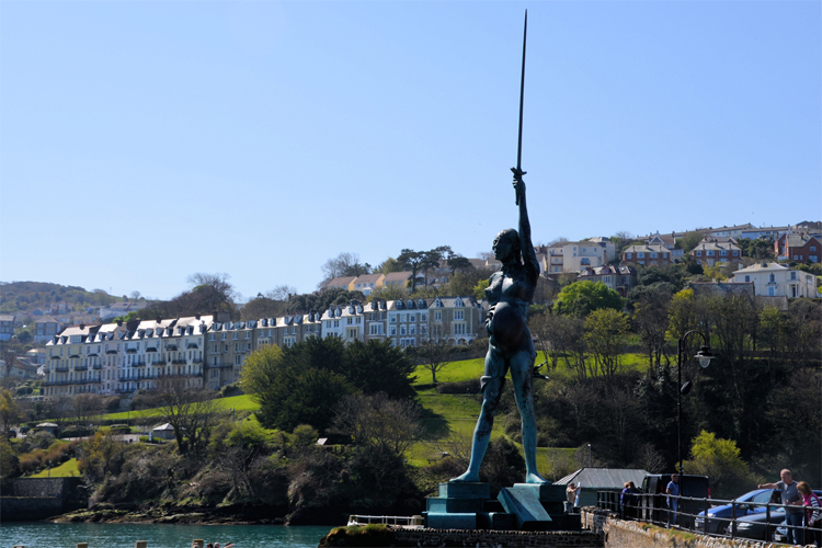 Damien Hirst's Verity in Ilfracombe