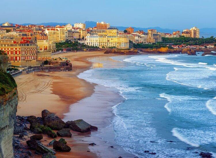 Biarritz seaside resort in France