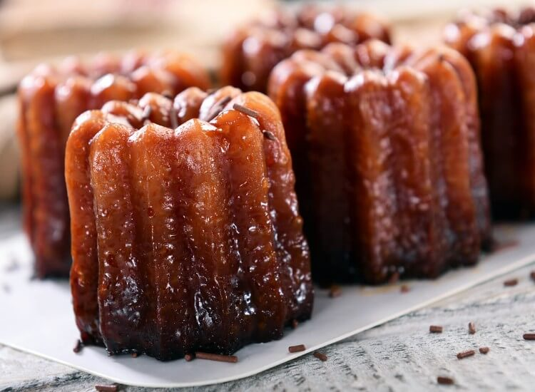 Canele - a pastry and custard dessert from Gascony in France