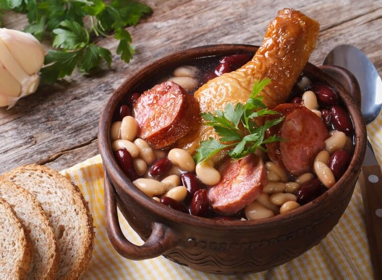 Cassoulet - a traditional duck dish cooked in Gascony in France