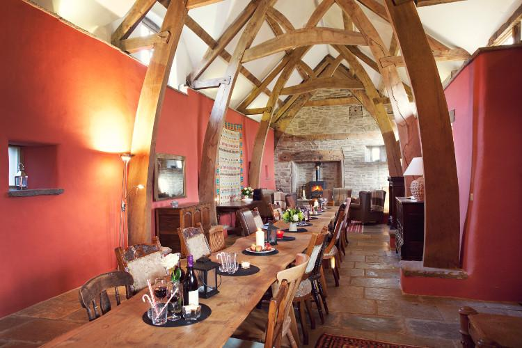 The Medieval Barn dining room