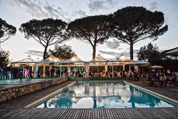 Celebrate around the pool at Villa Verde in Tuscany
