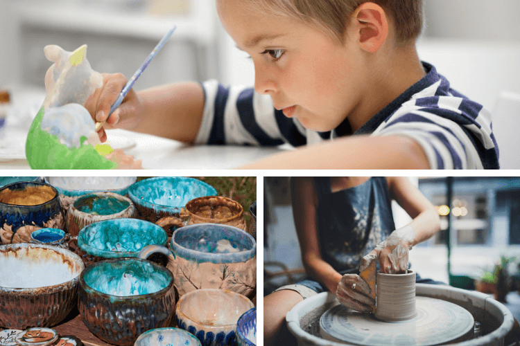 Montage of pottery photos